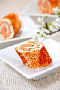 Paprika Salmon rolls
