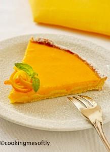 Crostata con crema di arance