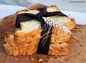 Pane inglese con Cheddar e cipolla